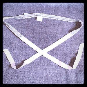 J Crew beaded ribbon belt - new!